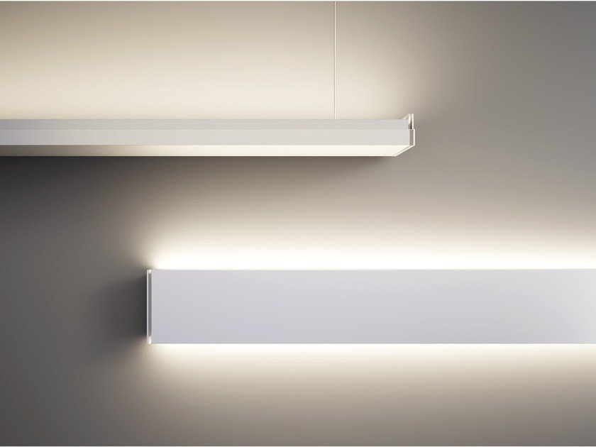 Illuminazione a binario con strip led flessibile dimmerabile
