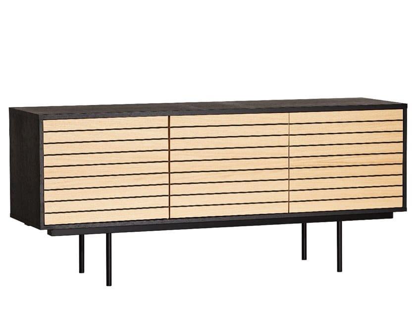 Sideboard with doors STRIPE | Sideboard by Woodman