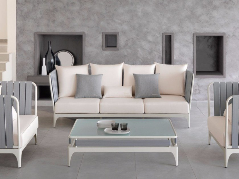 Fabric sofa with removable cover STRIPE | Sofa by Talenti