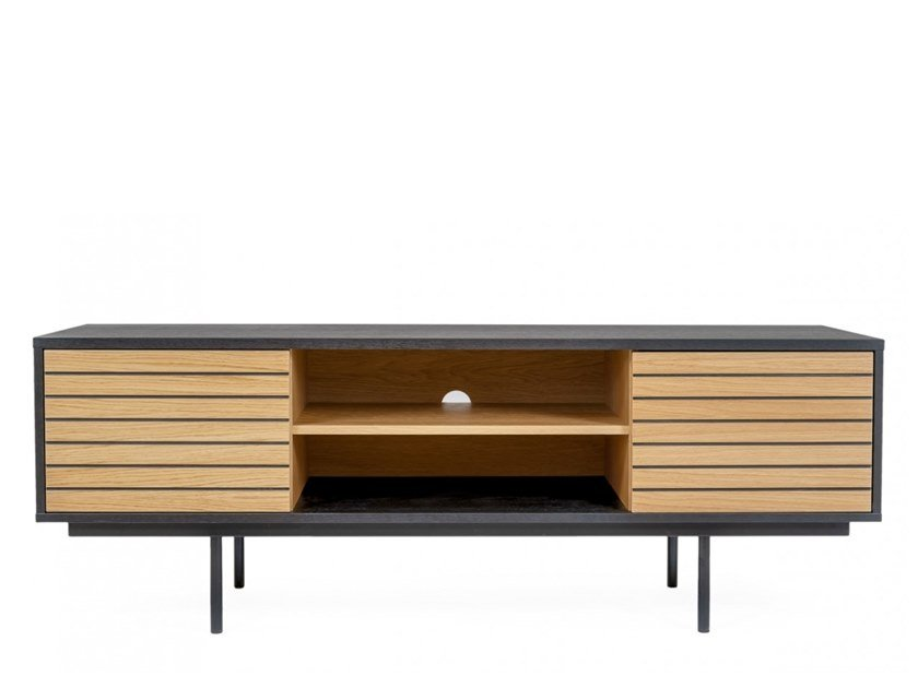 TV cabinet with doors STRIPE | TV cabinet by Woodman