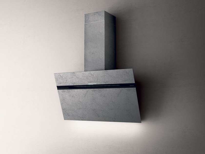 Wall-mounted cooker hood with integrated lighting STRIPE URBAN by Elica