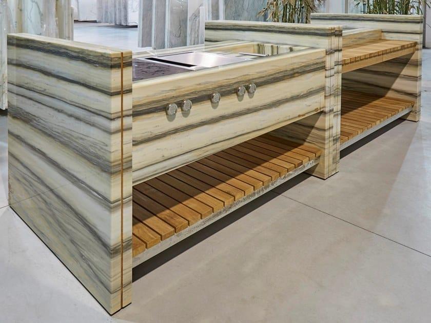 Marble Kitchen unit STRIPES by FranchiUmbertoMarmi