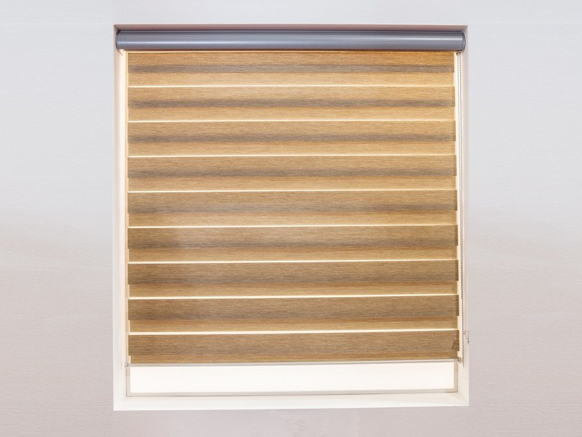 Sheer fabric roller blind STRIPES by RESSTENDE
