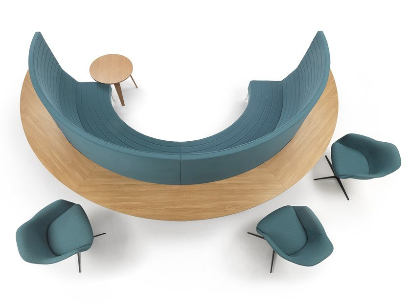 Sectional curved sofa STRIPES ROUND by Marelli