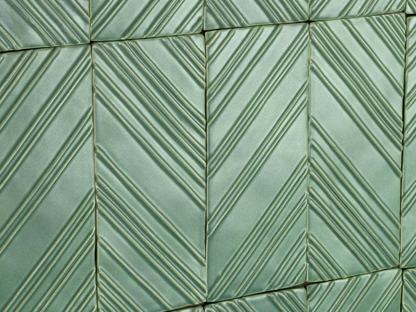 Indoor ceramic 3D Wall Tile STRIPES by Theia