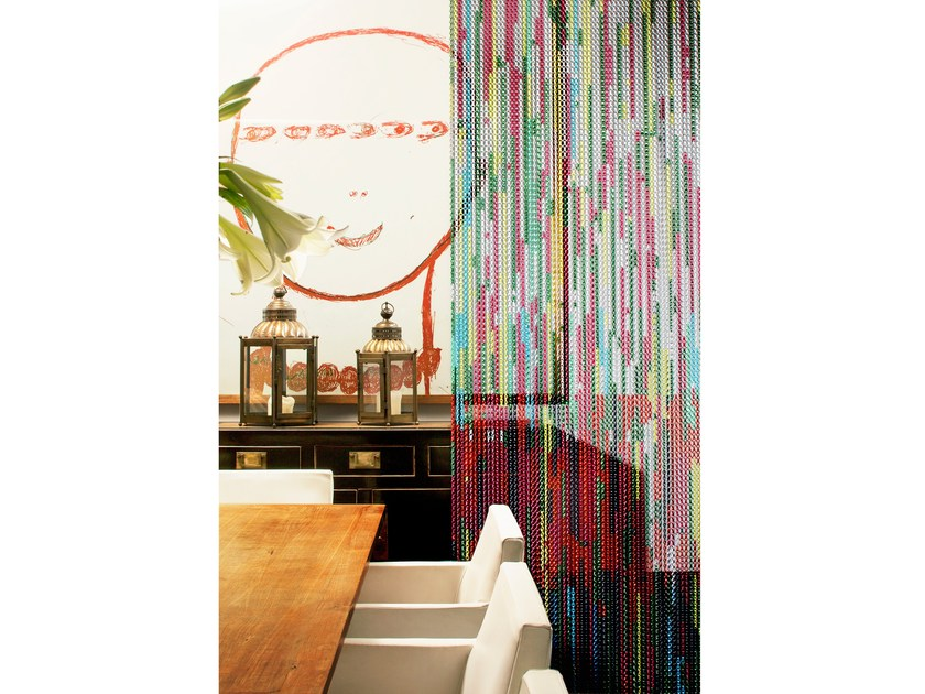 Aluminium chain curtain STRIPY-THING by Kriskadecor