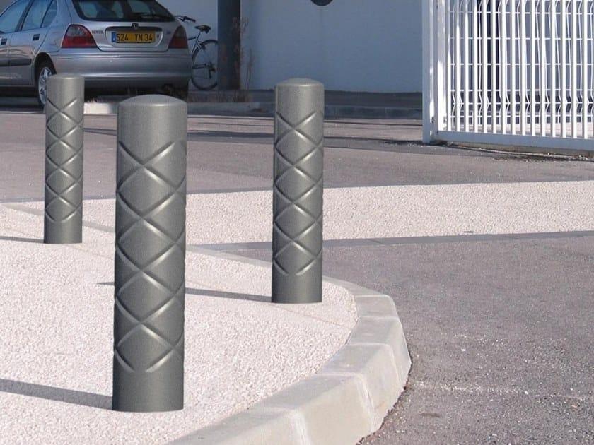 Fixed metal bollard post STRIUM | Bollard post by GHM-ECLATEC