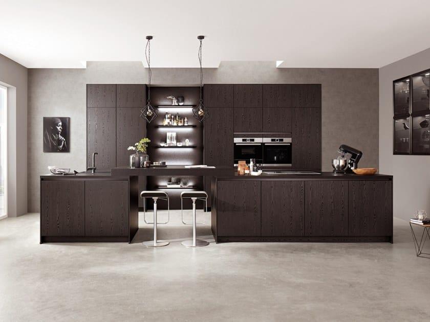 Cucina componibile in legno con isola STRUCTURA 403 | Cucina by nobilia