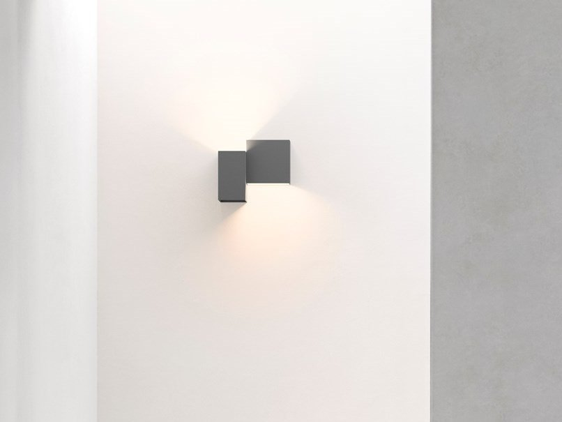 LED direct-indirect light aluminium wall light STRUCTURAL | Wall light by Vibia