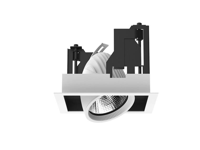 LED semi-inset adjustable aluminium spotlight STRUCTURE by LANZINI