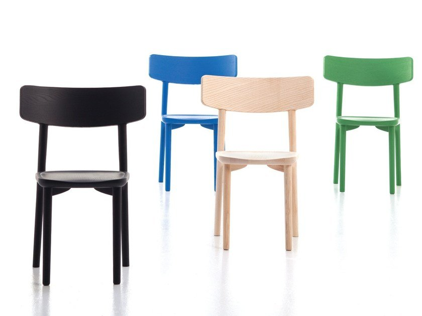 Ash chair STUBE | Chair by Cizeta L'Abbate
