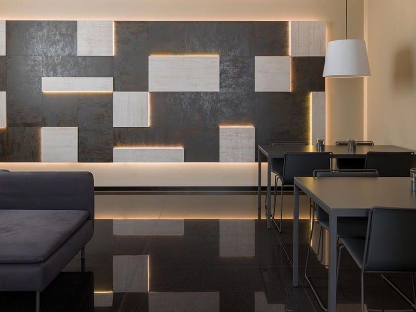 Porcelain stoneware wall/floor tiles STUC BLACK by URBATEK