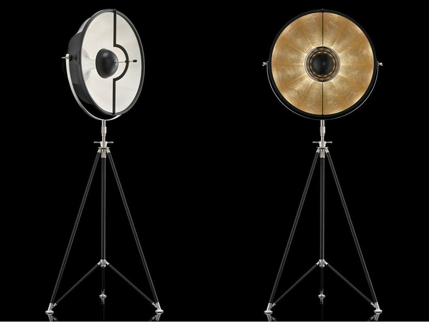 Indirect light adjustable floor lamp STUDIO 63 by Fortuny