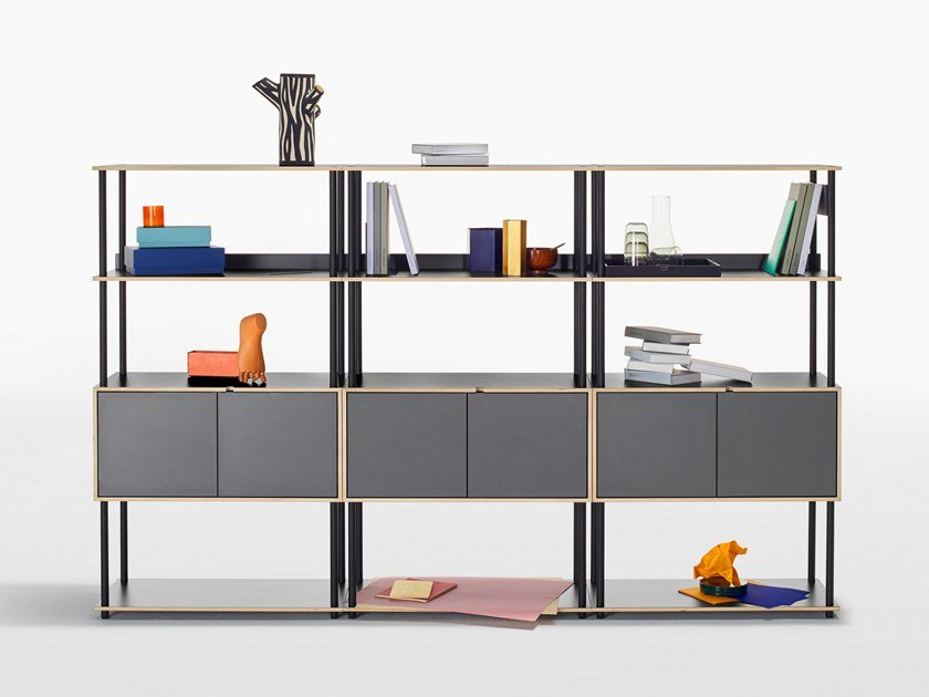 Open Modular office shelving STUDIO Shelving-System by BENE