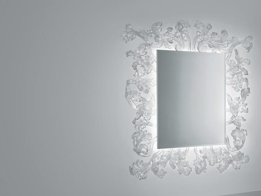 Specchio rettangolare a parete con cornice STURM UND DRANG By Glas ...