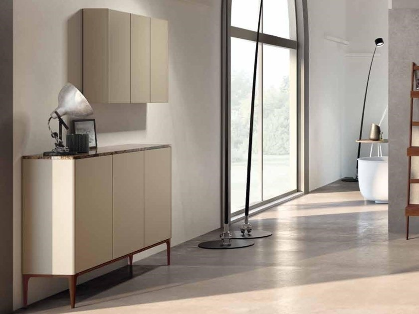 Ash bathroom cabinet with doors SU12 | Bathroom cabinet by Mobiltesino