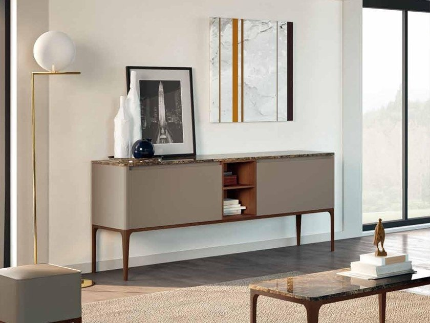 Lacquered ash sideboard with doors SU14 | Sideboard by Mobiltesino