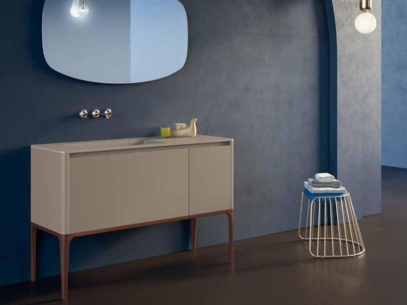 Lacquered ash vanity unit SU15   Vanity unit by Mobiltesino