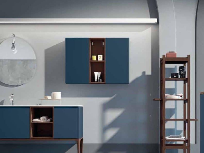 Ash bathroom wall cabinet with doors SU16 | Bathroom wall cabinet by Mobiltesino