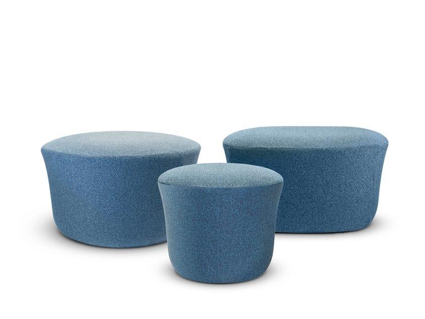 Round fabric garden pouf SUAVE | Garden pouf by VONDOM
