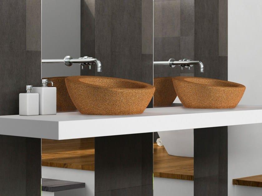 Countertop cork washbasin SUBER by AMA Design