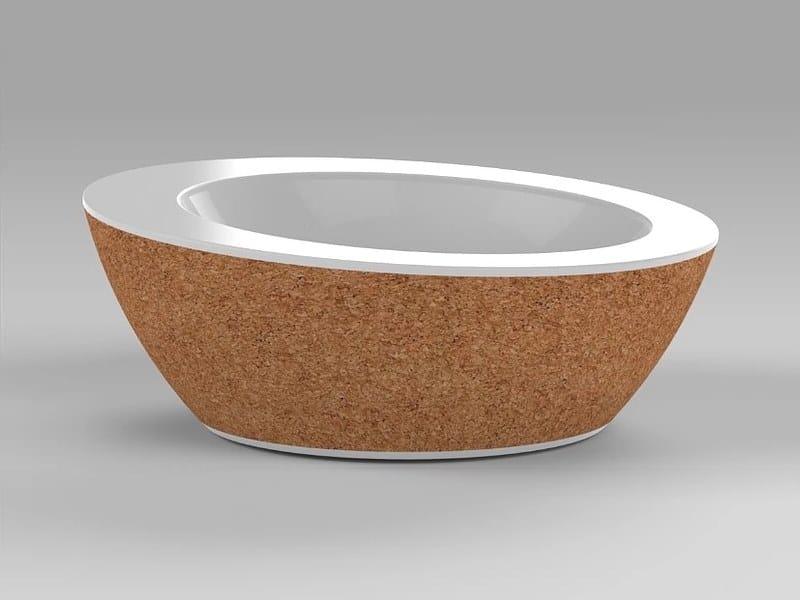 Lavabo da appoggio rotondo singolo in Corian® SUBER | Lavabo singolo by AMA Design