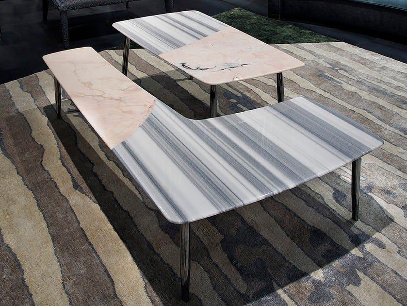 Tavolino in marmo da salotto SUERTE by ERBA ITALIA