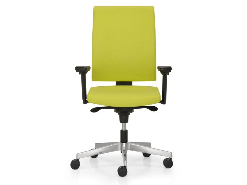 Height-adjustable task chair with 5-Spoke base with armrests SUGAR by Quinti Sedute