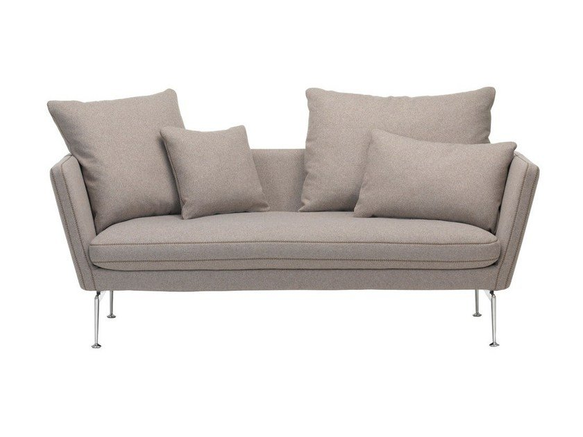 2 seater sofa with removable cover SUITA SOFA 2-SEATER WITH POINTED CUSHION by Vitra