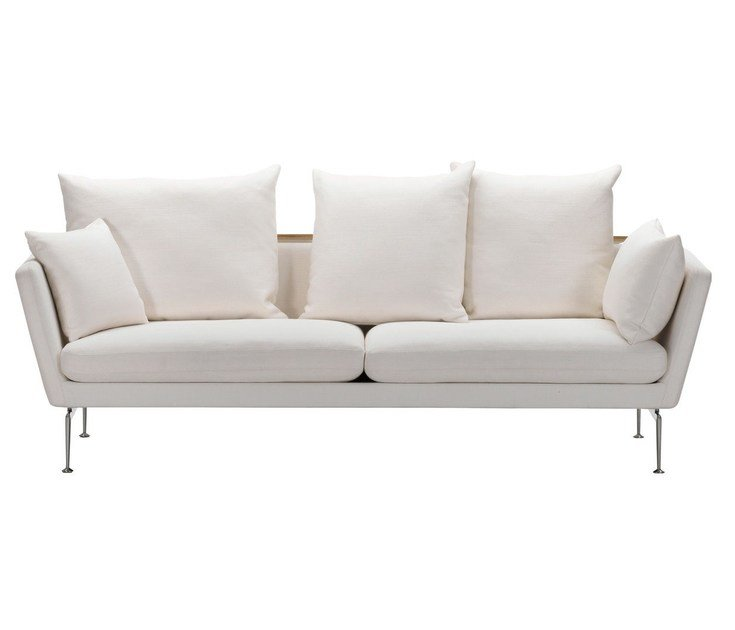 3 seater sofa with removable cover SUITA SOFA 3-SEATER WITH POINTED CUSHION by Vitra