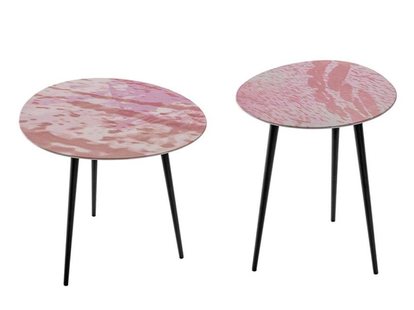 Round MDF side table SUITABLE RS by Casamilano