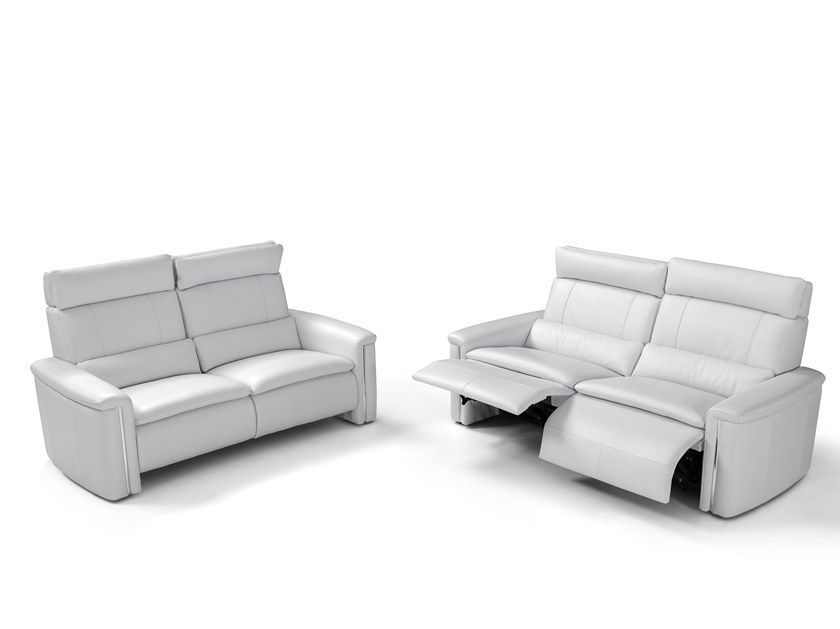 Relaxing leather sofa SUITE | Relaxing sofa by Max Divani