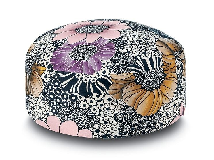 Fabric pouf with removable lining SULAWESI | Pouf by MissoniHome