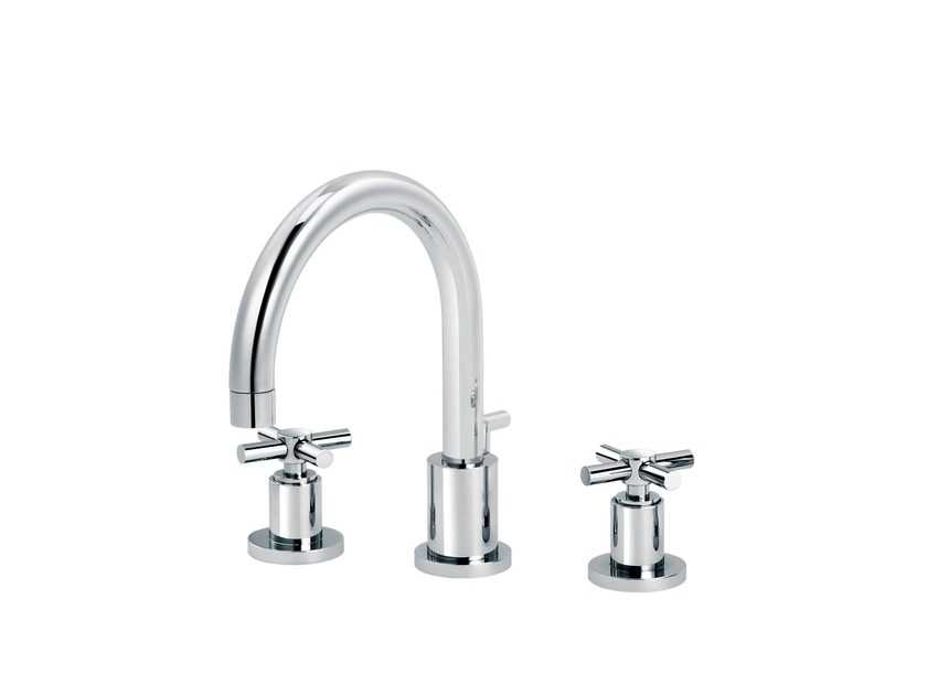 3 hole countertop washbasin mixer SULLY | Countertop washbasin mixer by rvb
