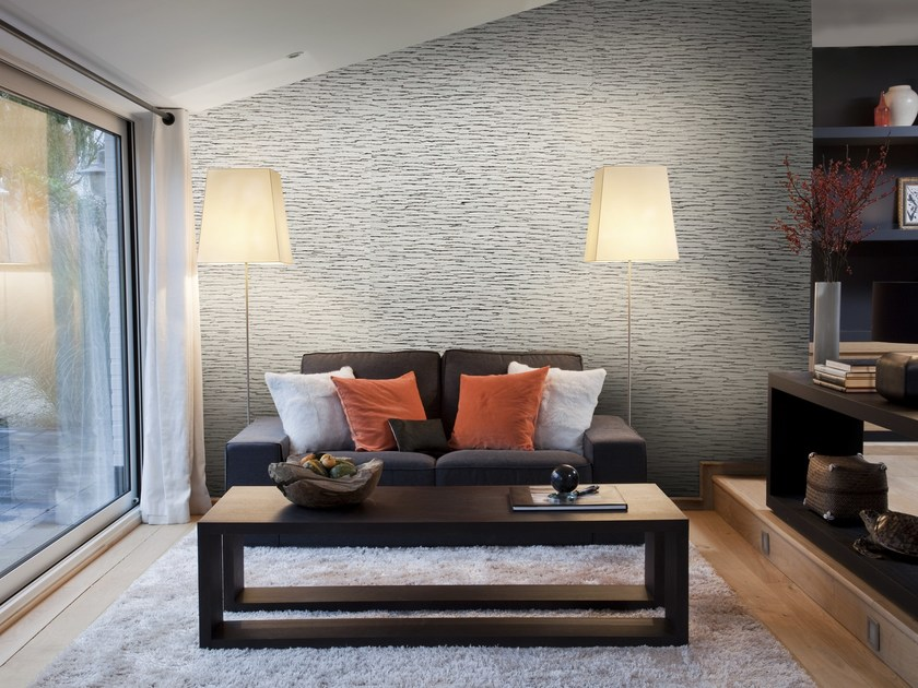 Bamboo fibre wallpaper SUMATRA BAMBOO TWIG by Omexco