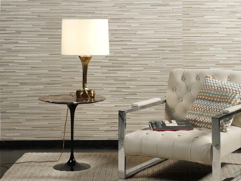 Natural fibre wallpaper SUMATRA COCO MIDRIB & SILK by Omexco