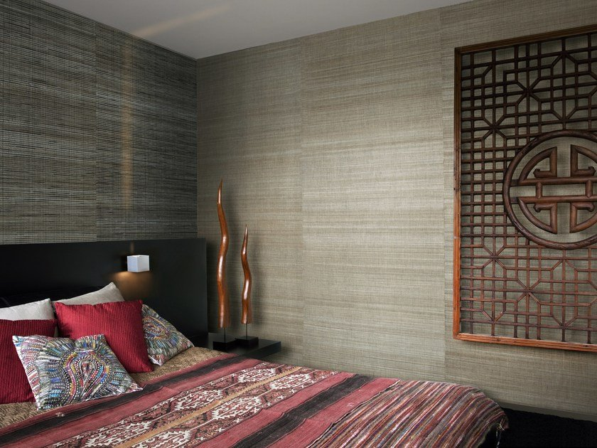 Natural fibre wallpaper SUMATRA LAPIZ & SILK by Omexco