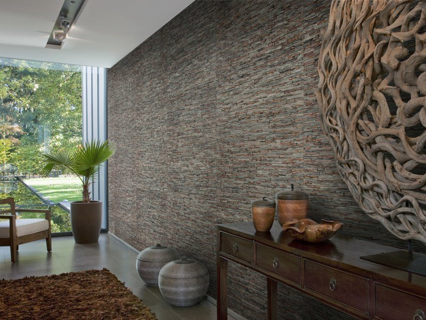 Natural fibre wallpaper SUMATRA RATTAN & BACNOC by Omexco