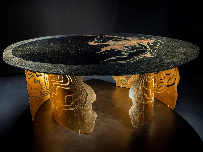Tavolo in acciaio inox e vetro SUMMA APOGEO by Unica by Tecnotelai