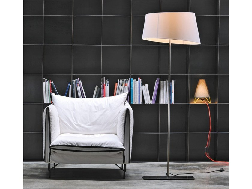 Fabric floor lamp SUMMA by Adriani e Rossi edizioni