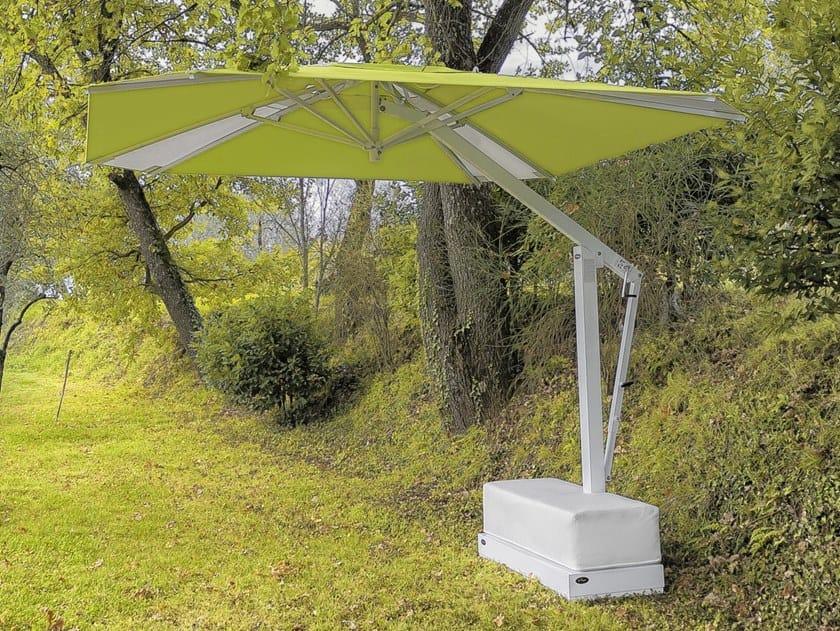 Adjustable offset aluminium Garden umbrella SUMMER by Ombrellificio Poggesi