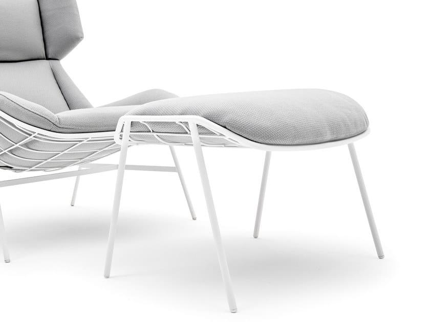 Rectangular fabric garden footstool SUMMER SET | Garden footstool by Varaschin
