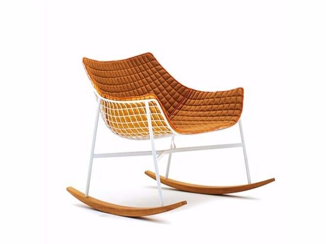 Rocking garden easy chair SUMMER SET | Rocking easy chair by Varaschin