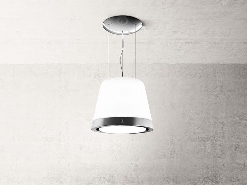 Inselhaube aus glas mit integrierter beleuchtung summilux by elica
