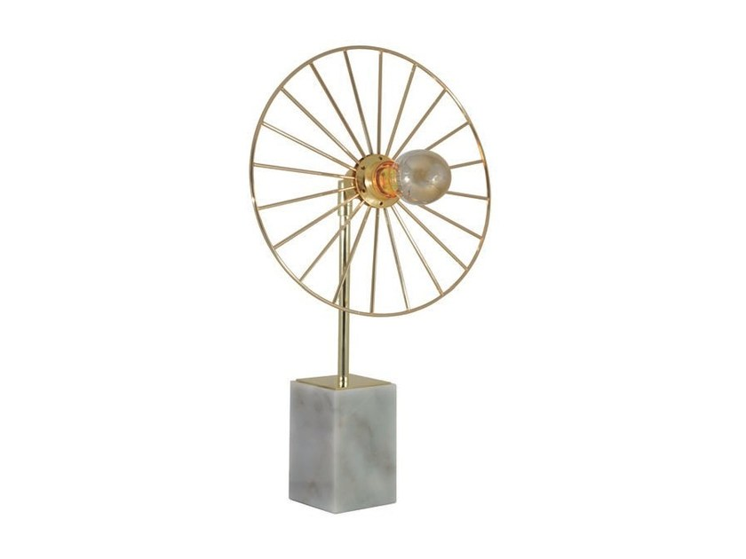 Direct light adjustable metal table lamp SUN LIGHT by Aromas del Campo
