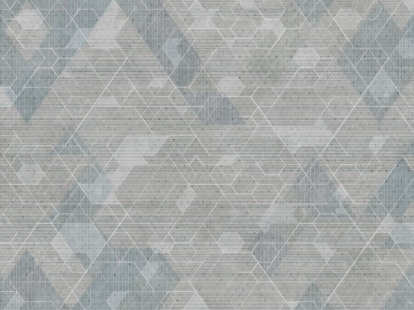 Geometric wallpaper SUNDAY by Tecnografica Italian Wallcoverings