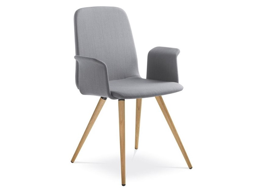 Fabric chair with armrests SUNRISE 152-BR-D by LD Seating