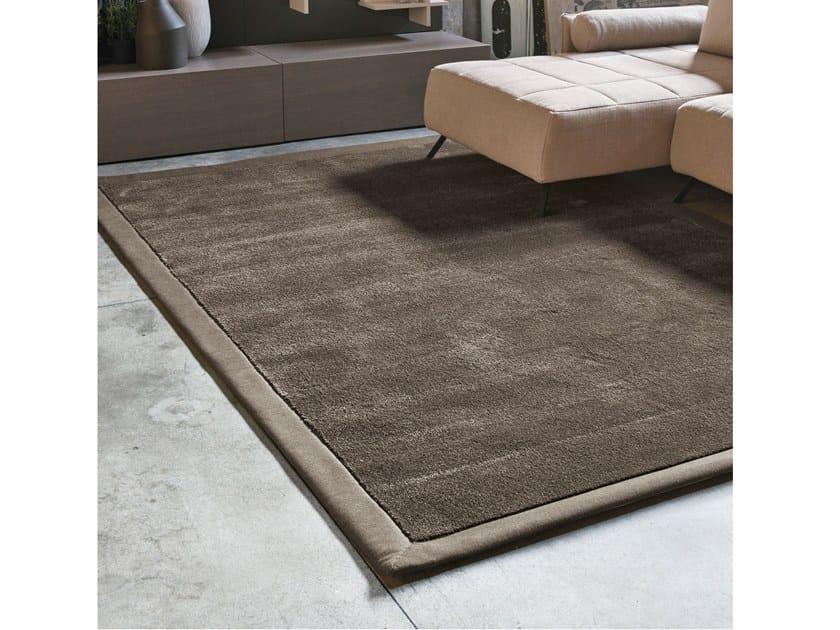 Solid-color rectangular fabric rug SUNRISE by Adriani e Rossi edizioni