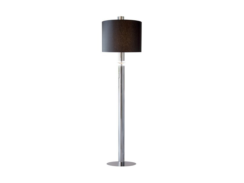 Direct-indirect light metal floor lamp with crystals SUNRISE F3+1 by ILFARI