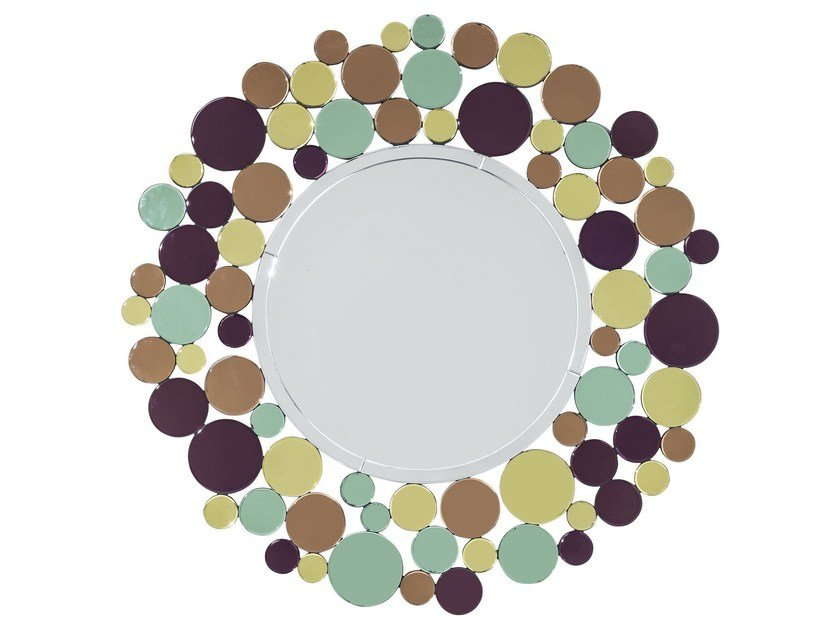 Round wall-mounted framed mirror SUNRISE by KARE-DESIGN